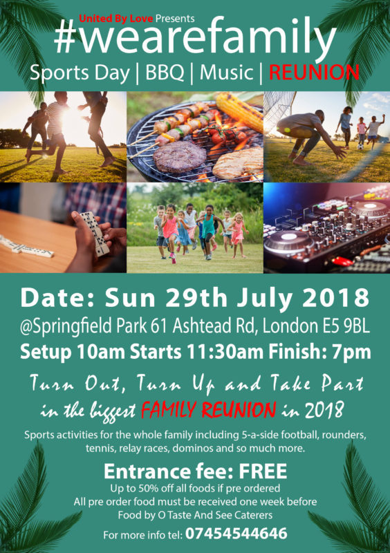 United By Love Presents #wearefamily Sports Day | BBQ | Music | reunion